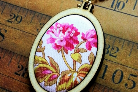 3 Mini Hoop Tall Oval Pendant Embroidery Blanks - Frame Necklace Craft Supply Je