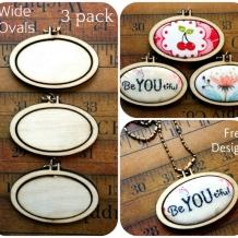3 pack Mini Wide Oval Hoop
