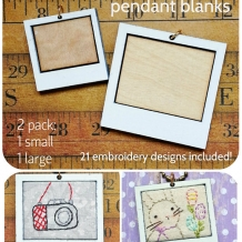 2 Photo Frame Pendant Embroidery Blanks - 21 designs Necklace Craft Supply Jewel