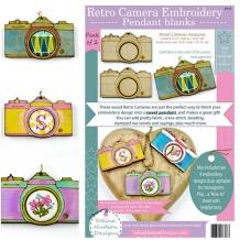 2 Retro Camera Pendant Embroidery
